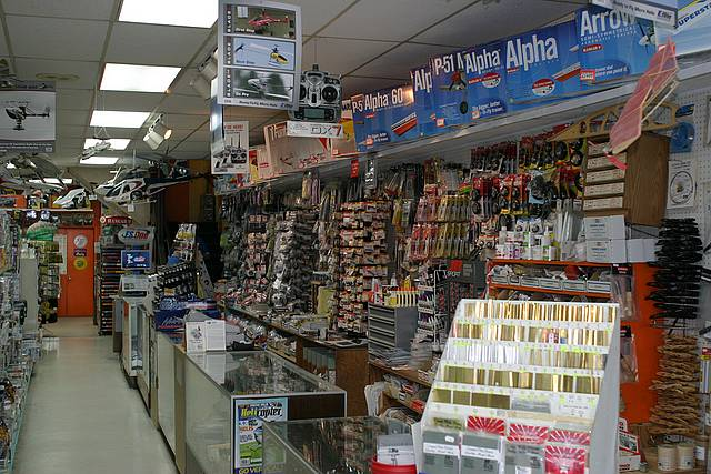 hayes hobbies, greg grimlick, photo 2, inside the shop, mom & pop hobby shops, martha and gentry hayes