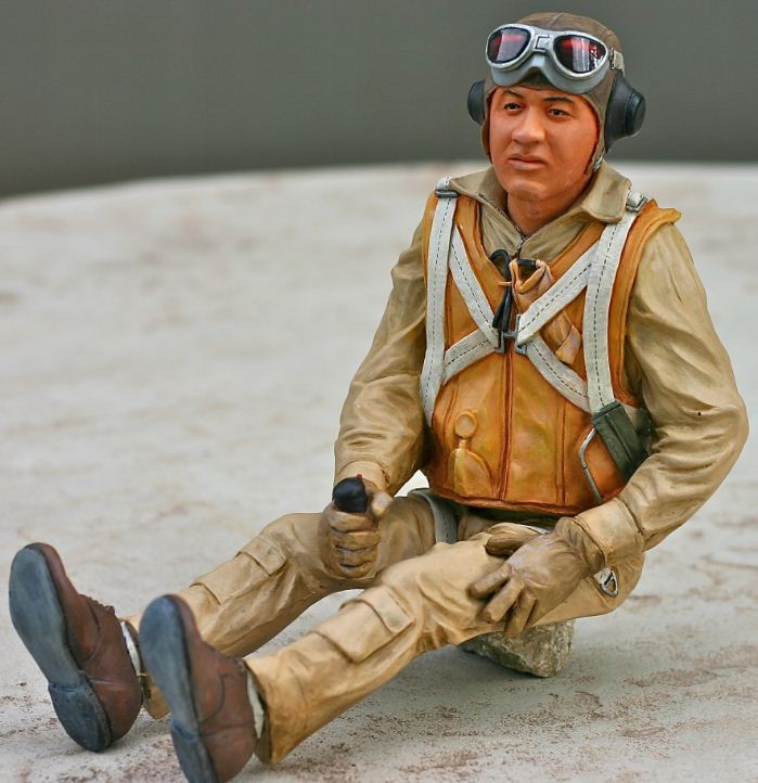 Best Pilots Scale Busts and Figures, pappy boyington, fighter pilots, 1940s pilots, pilots, model airplane news, model airplanes, man, photo 3, scale warbirds