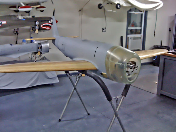 Meister Scale Giant Scale P-47 Thunderbolt, meister scale, model airplane news, model aviation, model airplanes, photo 2, primed fuselage, glass flying surfaces