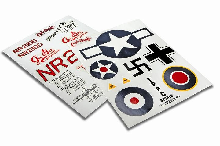 Scale Markings & Vintage Propeller Decals from Cal-Grafx