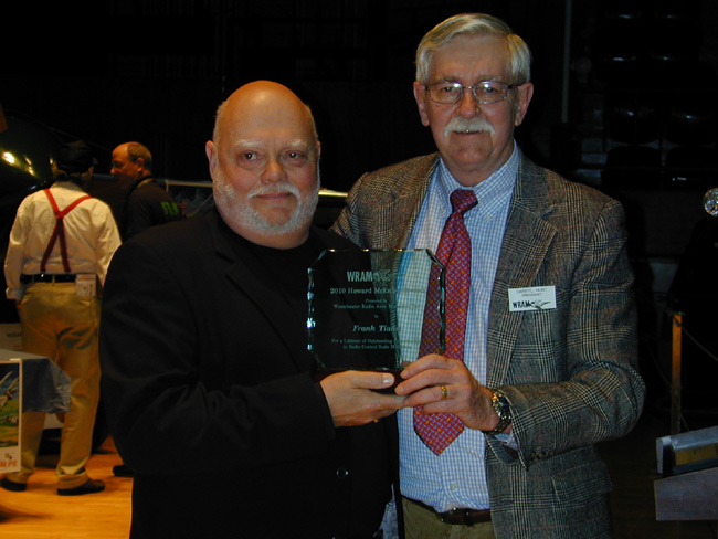 Frank Tiano awarded the 2010 Howard Mc Entee Memorial Award