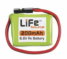 Hobbico LiFeSource 200mAh Receiver Pack