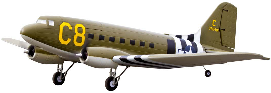 VENOM GROUP's new C-47 Skytrain Twin Brushless EPO Plane.