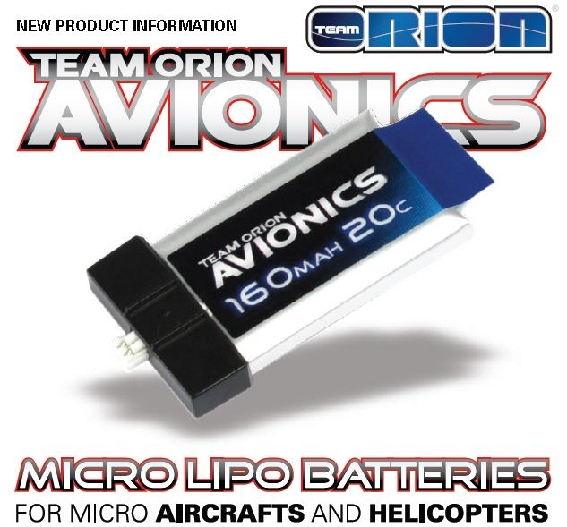 Team Orion Avionics Micro LiPo Batteries