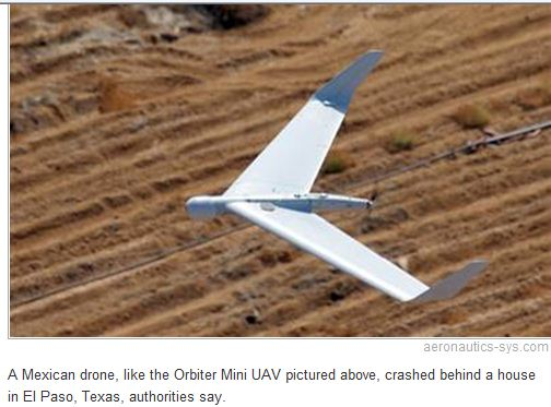Mexican drone crashes in Texas