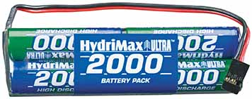 HydriMax Ultra NiMH 9.6V 2000mAh Tx Packs