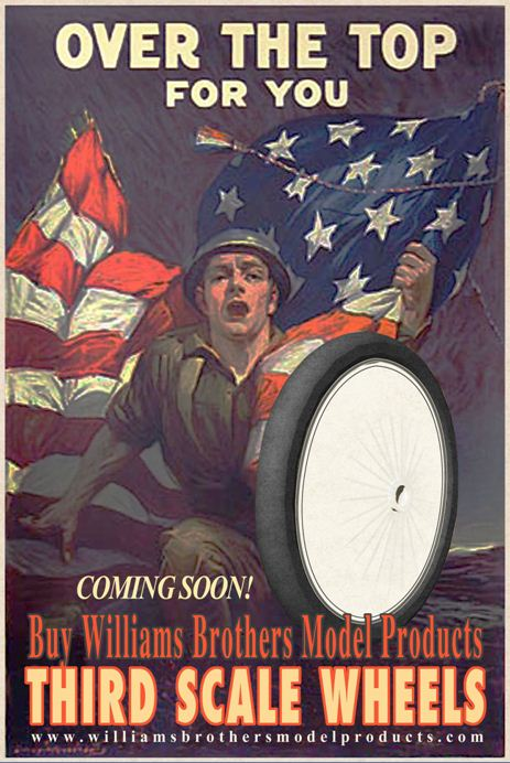 1/3-scale Vintage Wheels from Williams Brothers available for Pre-Order