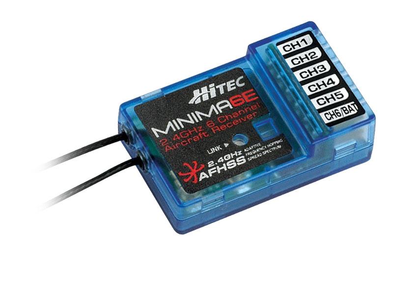 Hitec Minima 6T and Minima 6E, 6-Channel, Full-Range Micro Receivers