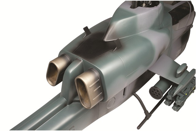 Align's AH-1 Cobra Fuselage, trex 500 size helicopter, align, cobra fuselage, photo 2, detail, green
