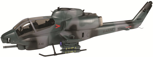 Align's AH-1 Cobra Fuselage, trex 500 size helicopter, align, cobra fuselage, fuselage image, photo 3, upclose