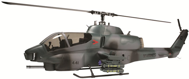 Align's AH-1 Cobra Fuselage, trex 500 size helicopter, align, cobra fuselage, photo 4, marines, 441