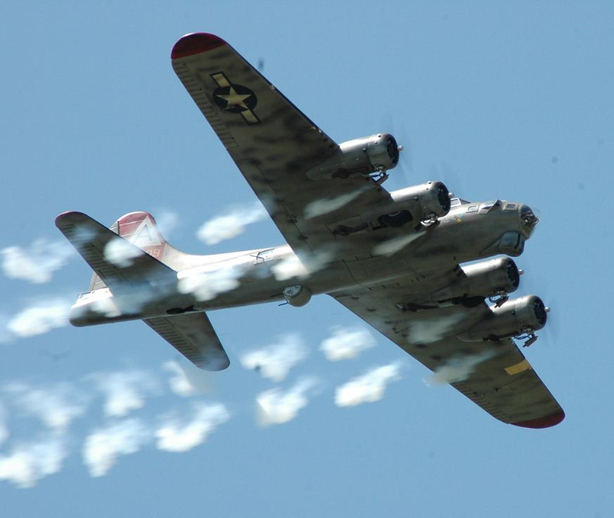 B-17 with smoke on!
