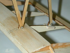 Mini Fokker D-VII, n-strut installation, model airplane news how to, model airplane news, photo 4, 1/8-inch 5-ply a/c plywood, gray