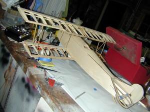 Mini Fokker D-VII, n-strut installation, model airplane news how to, model airplane news, photo 8, fokker airframe, engine cowling