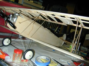 Mini Fokker D-VII, n-strut installation, model airplane news how to, model airplane news, photo 7, medium zap CA, glue