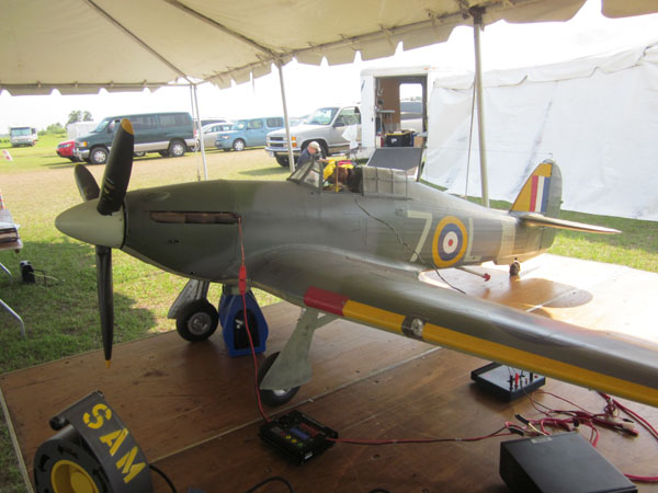 warbird, flightline, top gun, top gun 2011, hawker sea hurricane, model airplane news, photo 5, greg tracey, sachs 75cc gas engine