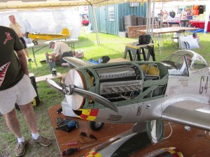 P-51D Mustang, Jean-Francois Bobo, V-12 Rolls Royce Merlin engine, DLE 55 engine, photo 2, propellor, side shot