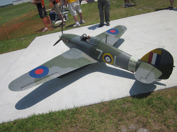 warbird, flightline, top gun, top gun 2011, hawker sea hurricane, model airplane news, photo 1, 7OL, army
