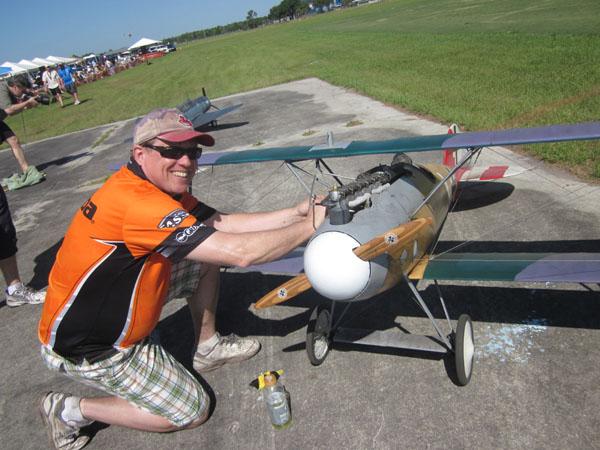 Dave Johnson on the flightline at Top Gun
