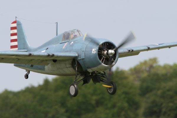 Grumman F3F Wildcat on Final at Top Gun