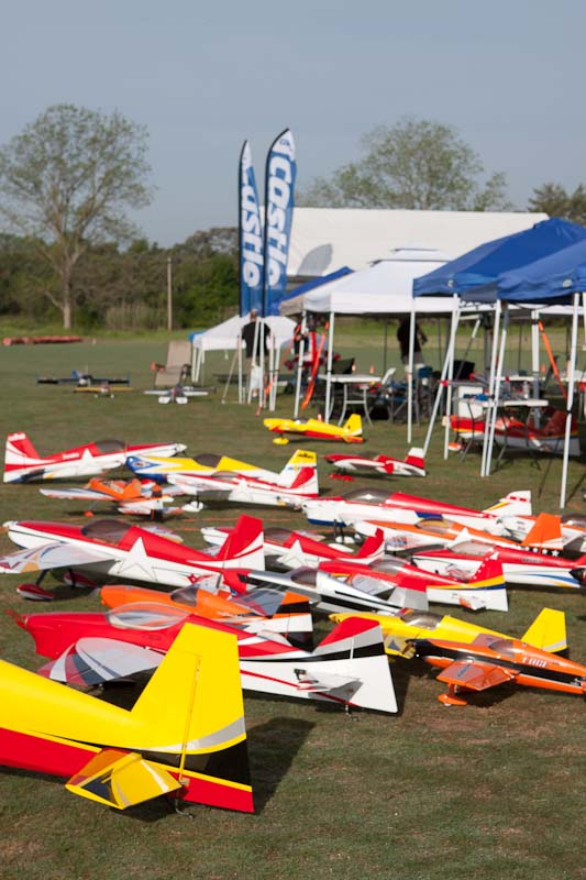 Just some of the aerobatic aircraft staged in the aerobatic section at SEFF