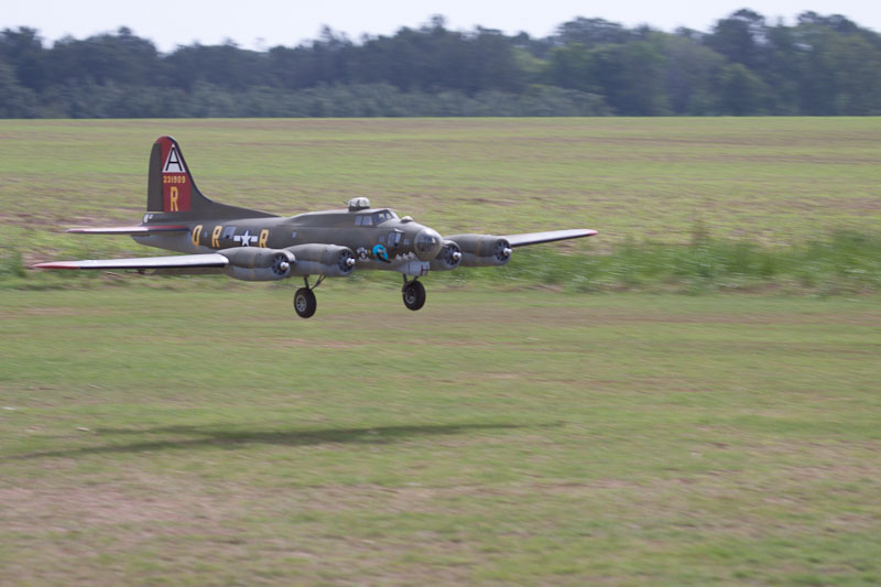 A very large and great looking B-17, there are two of these large bombers at the show.
