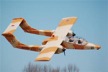 setting up multi-motor electrics, OV-10D Bronco, roomy fuselage center wing