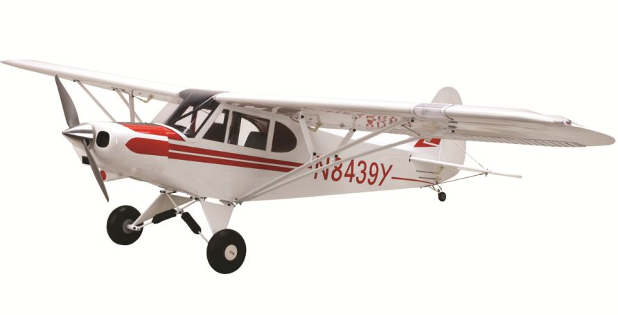 E-flite Super Cub 25e, platinum series aircraft, ultracote covering and scale, model airplane news, rc airplanes