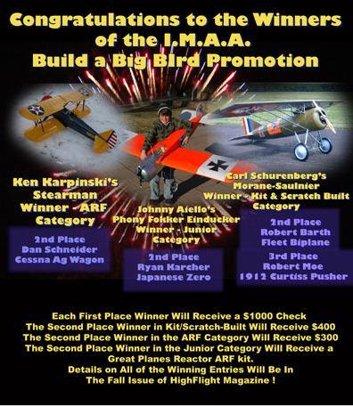"IMAA ""Build a Big Bird"" Winners!"