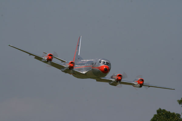 Carl Bachhuber's Lockheed Electra II fly by