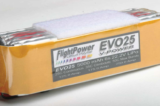 RC electric set-up, electrical power, programming ESCs, flight power, flight power battery evo25 v-power, model airplane news