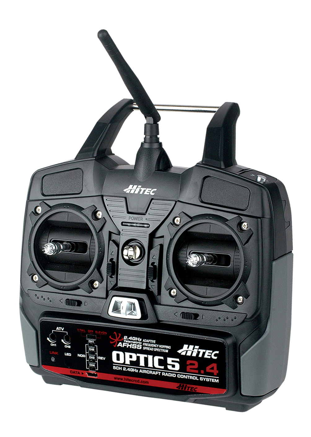 Hitec released the Optic 5, a new 5-Channel 2.4GHz Radio.