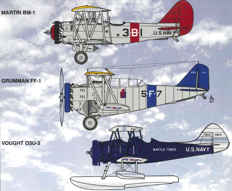 scale RC modeler, builder and flyer, US Naval Aviation, classic military aircraft Airships and Navy Vessels interest, model airplane news, mcfarland & co new book, mcfarland & co, martin bm-1, grumman ff-1, vought o3u-3, mcfarland and co august 2011 book