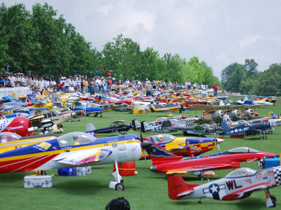 osh kosh of RC, triple tree aerodrome, Joe Nall Giant Scale Fly In, model airplane news