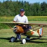 Jim Moss with his Morane Saulnier A1