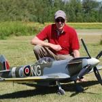 Sepp Uiberlacher and his MXVI Spitfire