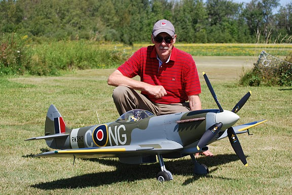 Sepp Uiberlacher and his MXVI Spitfire