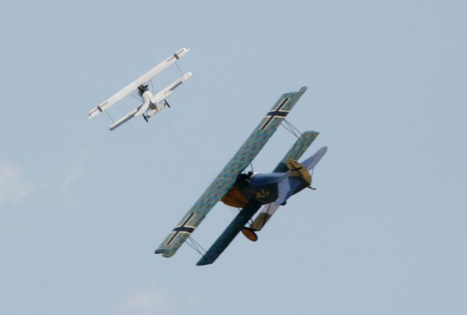 Warbirds over Delaware — WW1 Gaggle Mass RC Flight… includes in-flight pix of Mid-Air!