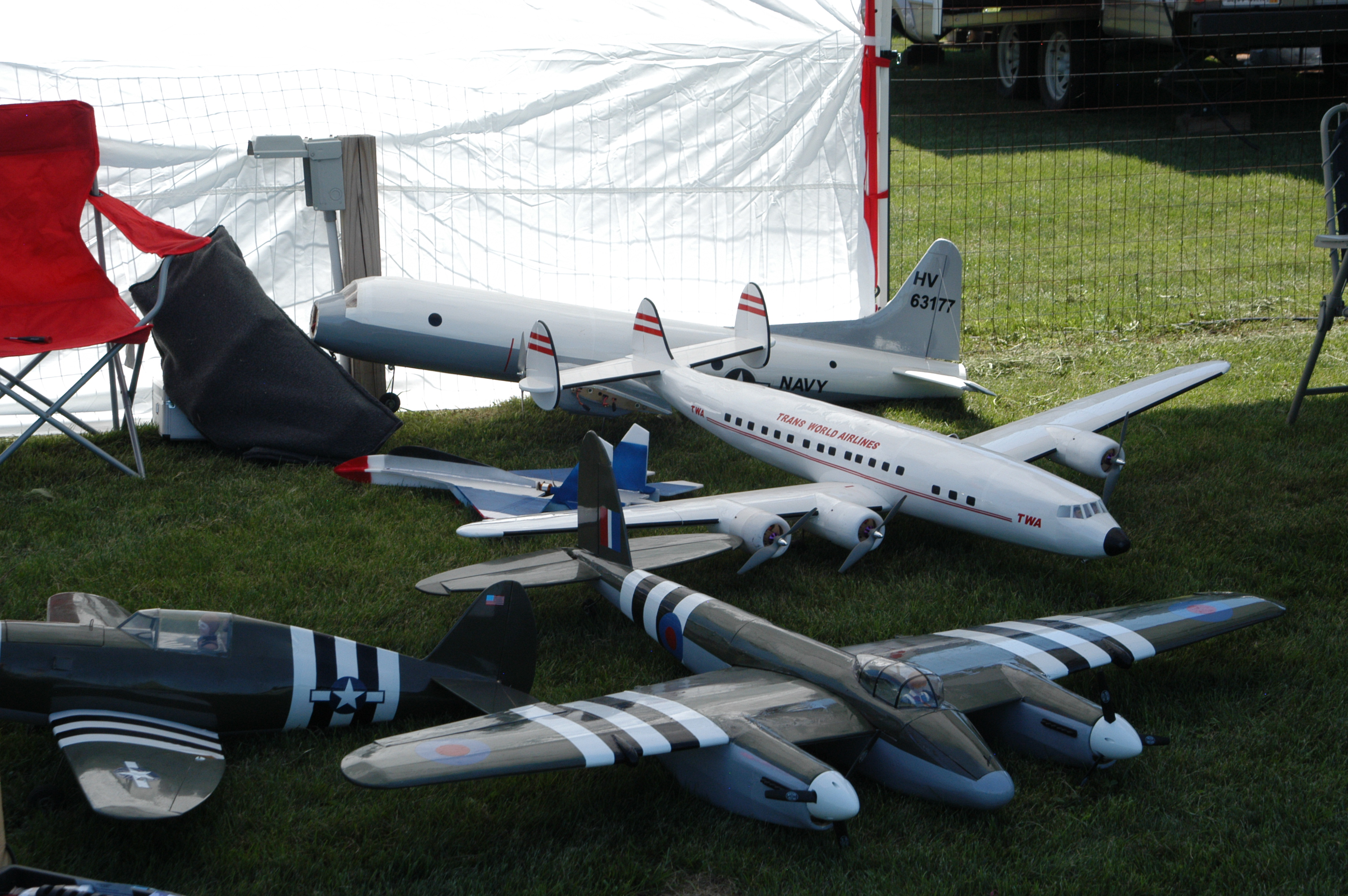 A large number of twin engine models were at the event.