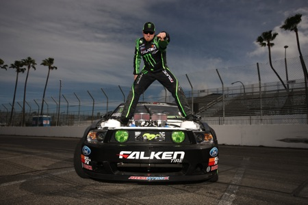 World Champion Drifter Vaughn Gittin Jr. and the Monster Energy/Falken Tire Ford Mustang Slide into RCX!