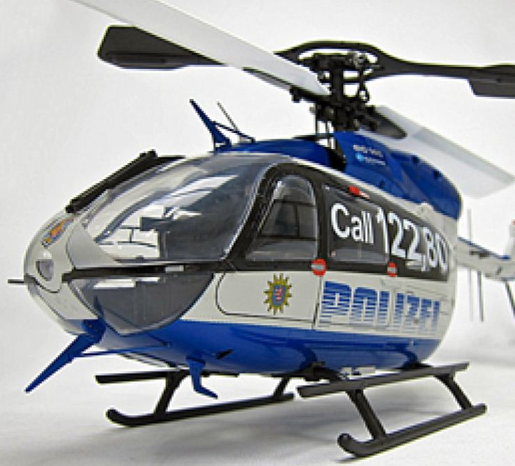 A plastic model you can fly! Hirobo Eurocopter EC145