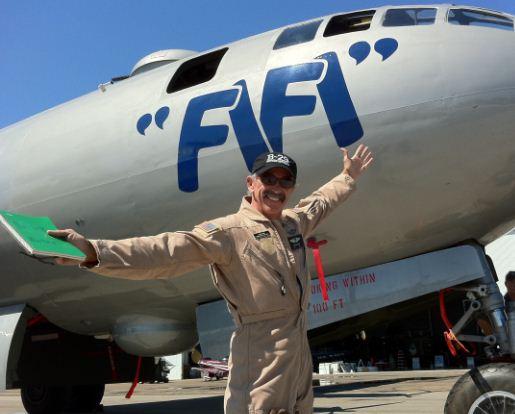 Country music star flies a B-29!