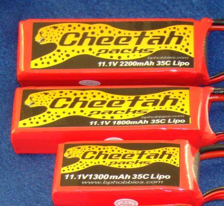 BP Hobbies Cheetah LiPo Packs