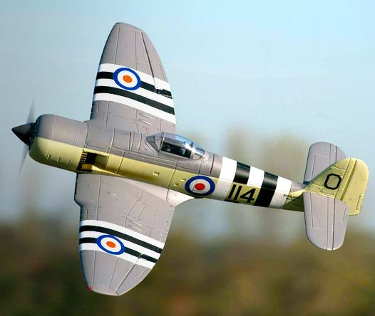 E-flite Hawker Sea Fury 480 — update with video