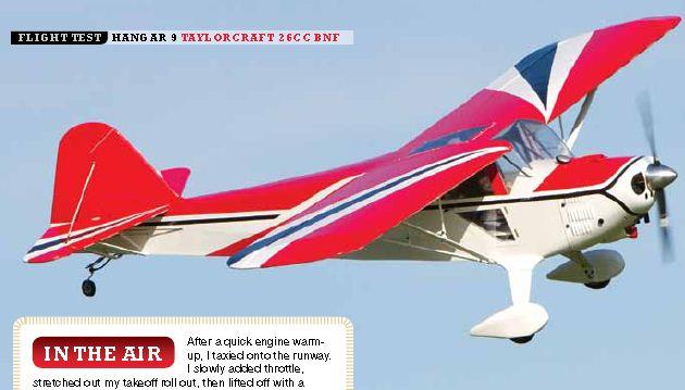 Sneak peek: Hangar 9 Taylorcraft 26cc BNF