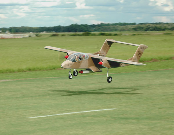 Giant Scale Electric-Powered OV-10 Bronco with Video