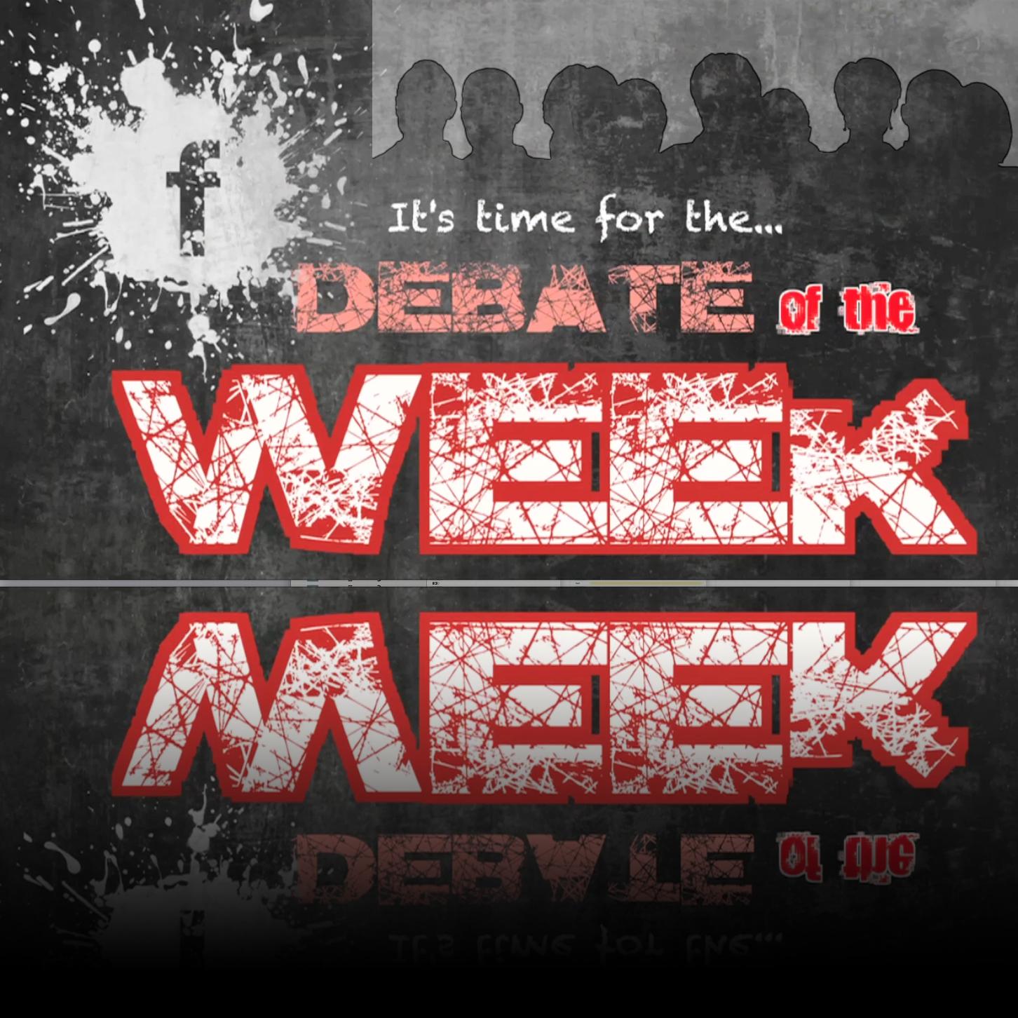 This Week's Debate Question