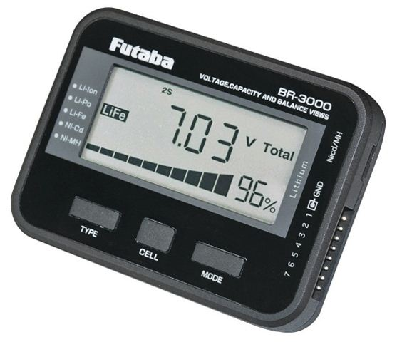 Futaba BR-3000 Digital Battery Checker