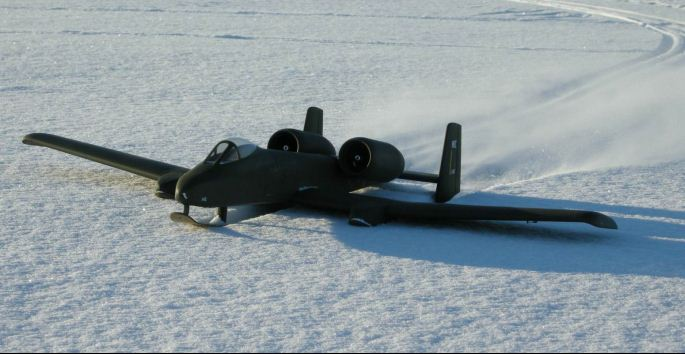 A Warthog on Skis!