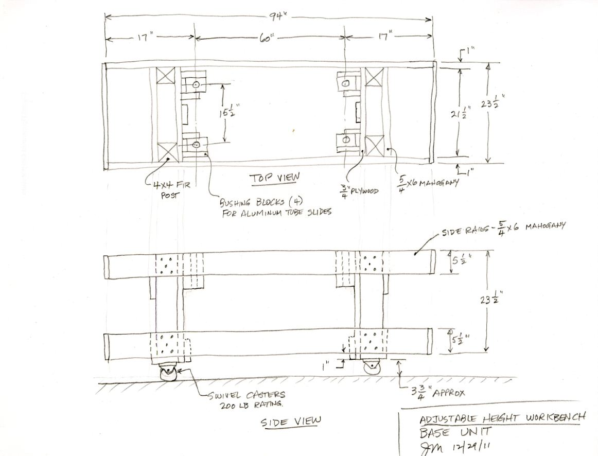 RC Plane Adjustable Workbench Plans